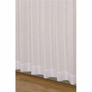 ユニベール 既製カーテン クリア ホワイト 2枚で1間半用