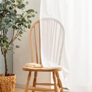 カーテン K-アレルGプラス ホワイト 巾100cm×丈176cm 2枚入