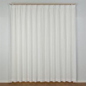 レースカーテン  巾100cm×丈133cm ブラットレース ホワイト 2枚入 遮熱・断熱効果あり 外から室内が見えにくい UVカット ウォッシャブル