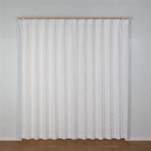 レースカーテン 巾150cm×丈176cm アイリスレース ホワイト 1枚入 外から室内が見えにくい 防炎 ウォッシャブル