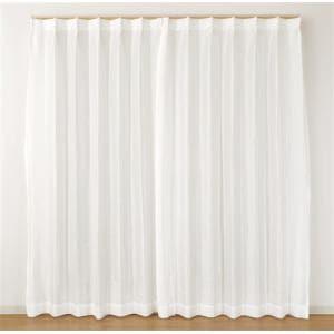 レース 採光 レース ルミック ホワイト 巾100cm×丈103cm 2枚入
