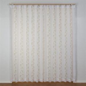 カーテン ボイル サフラン ブラウン 巾100cm×丈133cm 2枚入