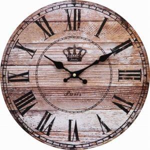 ウォールクロック アンティークウッドφ28cm 家具 インテリア 雑貨 掛時計