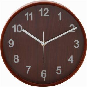 掛け時計・ウォールクロック ブラウン 径22cm