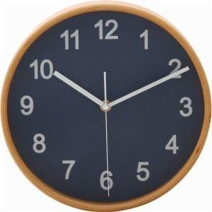 掛け時計・ウォールクロック ネイビー 径22cm