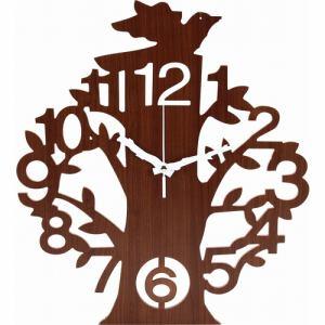 壁掛け時計 ツリー ブラウン 家具 インテリア 雑貨 掛時計