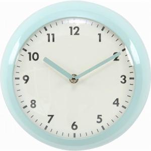 壁掛け時計 レトロクロック  ブルー