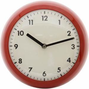 掛け時計・ウォールクロック レッド 径約24cm