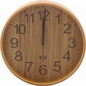 プライウッド電波掛時計 Φ28cm ナチュラル 家具 インテリア 雑貨 電波掛時計