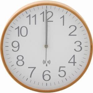 プライウッド電波掛時計 Φ28cm ホワイト 家具 インテリア 雑貨 電波掛時計