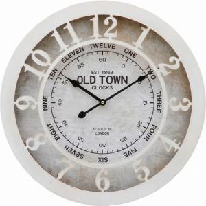 ウォールクロック OLD TOWN φ50cm ホワイト 家具 インテリア 雑貨 掛時計