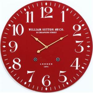 掛時計 LONDON1894 レッド 径60cm