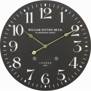 ウォールクロック LONDON 1894 φ60cm ブラック 家具 インテリア 雑貨 掛時計