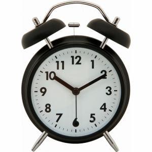 アラームクロック ベル ブラック 家具 インテリア 雑貨 置時計