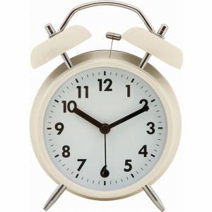 アラームクロック ベル アイボリー 家具 インテリア 雑貨 置時計