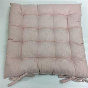 綿入りシートクッション  ピンク 約40X40cm