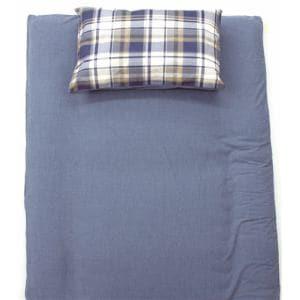TC枕カバーM チェック ブルー 43×63cm