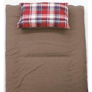 TC枕カバーM チェック レッド 43×63cm