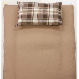 TC枕カバーM チェック ベージュ 43×63cm