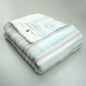 今治タオル 綿100% バスタオル  無撚糸リッシュ ブルー(1枚)