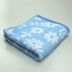 タオル 甘撚りボタニカルガーデン ブルー フェイスタオル ふんわり柔らか(1枚)
