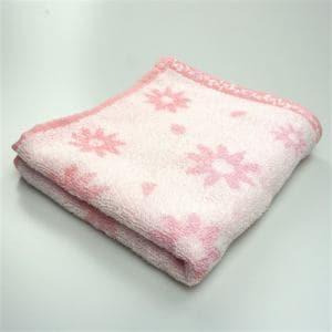 タオル 無撚糸ヒラリー ピンク フェイスタオル 柔らかな肌触り(1枚)