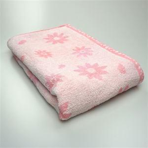 タオル 無撚糸ヒラリー ピンク バスタオル 柔らかな肌触り(1枚)