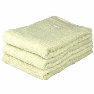 タオル 綿100% ベトナムしっかりカラー ベージュ バスタオル 吸水性 耐久性に優れ(1枚)