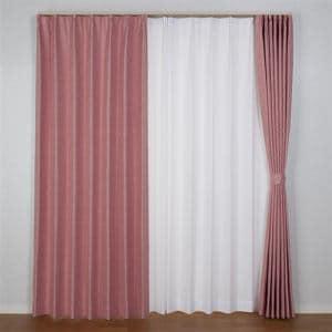 カーテン 巾100cm×丈200cm コローレ ローズ2枚入 遮光性あり 形状記憶加工 遮熱・断熱効果あり ウォッシャブル