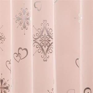 カーテン  巾100cm×丈135cm アリッサ ピンク2枚入 ウォッシャブル