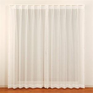 カーテン セフィ ピンク 巾100cm×丈133cm 2枚入