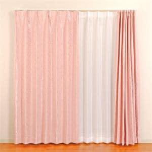 カーテン セラーノ ローズ 巾100cm×丈200cm 2枚入