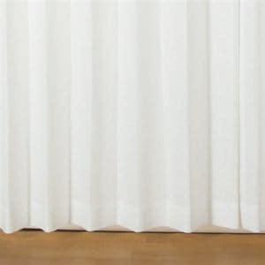 レースカーテン  巾100cm×丈176cm アングルレース ホワイト 2枚入  遮熱・断熱効果あり 見えにくい UVカット 防炎 ウォッシャブル