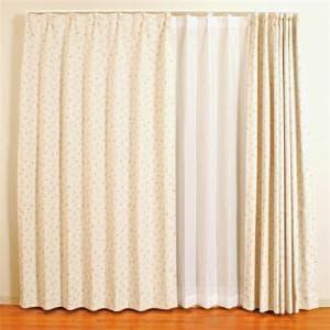 カーテン ベル ローズ 巾100cm×丈200cm 2枚入