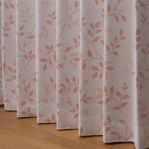 ドレープ遮光カーテン セレッサ ローズ 巾100cm×丈178cm 2枚入