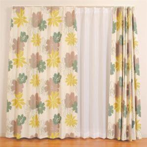 カーテン ディアス グリーン 巾100cm×丈200cm 2枚入