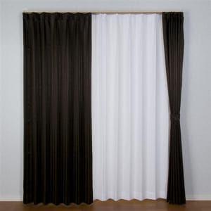 カーテン シャープ ブラウン 巾100cm×丈178cm 2枚入