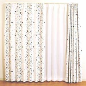 カーテン ボスカート ブルー 巾100cm×丈178cm 2枚入