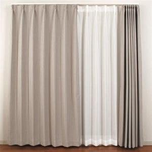 カーテン ココモ グレー 巾100cm×丈200cm 2枚入