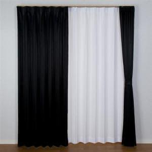 カーテン シャープ ブラック 巾100cm×丈200cm 2枚入