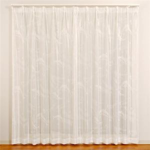 レースカーテン 巾100cm×丈176cm ドルフィンレース ホワイト 2枚入 ウォッシャブル