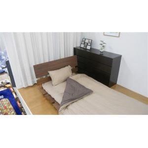 ベッドカバー/ボックスシーツ  シングル 100×200×30cm 綿すっぽりシーツ 無地ライク ブラウン