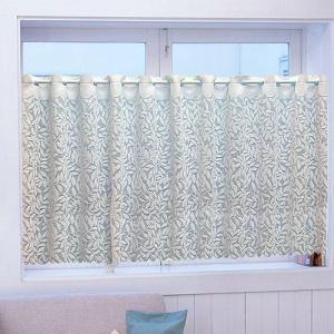 カフェカーテン 遮熱フレッシャー ホワイト 巾145cm×丈68cm