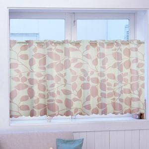 カフェカーテン 遮熱OXフォード ピンク 巾145cm×丈72cm