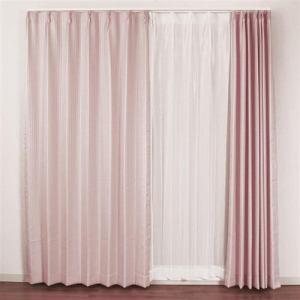 カーテン 4Pラスター ピンク 巾100cm×丈200cm 4枚入