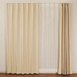 カーテン 4Pラスター アイボリー 巾100cm×丈135cm 4枚入