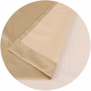 遮光 裏地カーテン シャコウコーティングライナー ベージュ 巾105cm×丈195cm