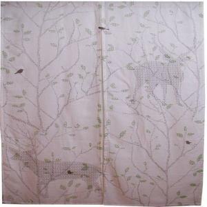 のれん ツイート ベージュ 巾85cm×丈150cm