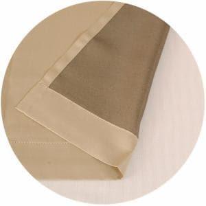 遮光 裏地カーテン シャコウライナー ベージュ 巾105cm×丈173cm 2枚入