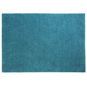 中敷きラグ フレイク ブルー 130×185cm